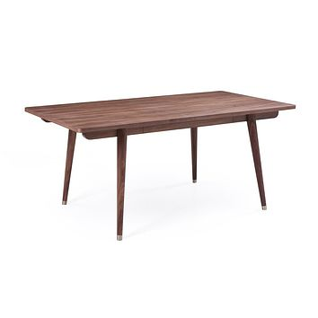 Modrest Gloria Mid-Century Modern Walnut Dining Table