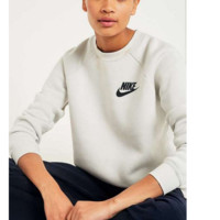 Nike: Fashion Sports Sweater Girl Men Grey B-KWKWM