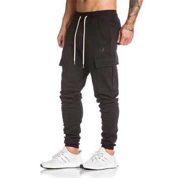 Gyms pants bodybuilding clothing Men's gasp workout casual camouflage sweatpants joggers pants skinny trousers