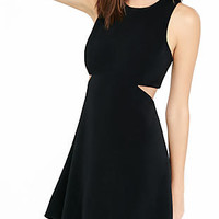 Black Cut-out Fit And Flare Dress from EXPRESS