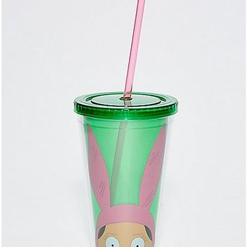 Louise Ears Bob's Burgers Cup with Straw - 16 oz. - Spencer's