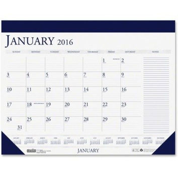 House of Doolittle 2016 Monthly Desk Pad Calendar Classic with Notes Section ...