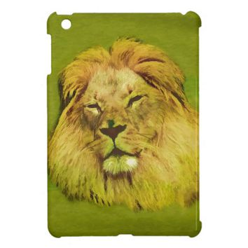 African Yellow Lion Oil Painting iPad Mini Case