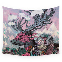 Society6 Journeying Spirit (deer) Sunset Wall Tapestry