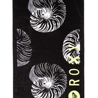 Roxy Pretty Simple Beach Towel - Womens Scarves - Black - One
