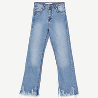 HIGH-RISE CROPPED MINI FLARE JEANSDETAILS