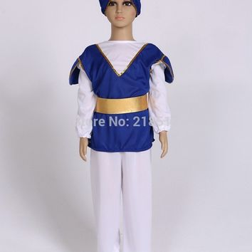 Children Aladdin Cosplay Halloween costume Christmas masquerade dresses Cosplay Boys olaf costume 110-140cm