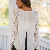 Midnight Stroll Blouse, White