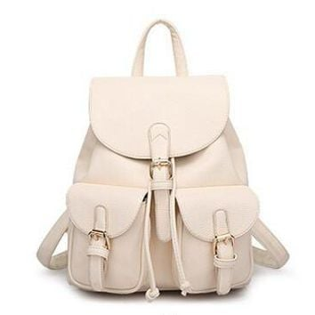 Girls Or Women's Faux Leather Backpack