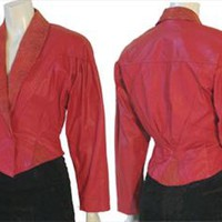 80s Red Leather Jacket