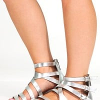 Stranded In Style Sandals: Silver