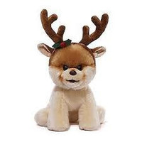 BOO WITH REINDEER ANTLERS