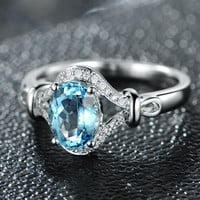 1.33ctw Oval Cut Aquamarine Engagement ring,VS Diamond wedding band,14K Gold,Gemstone Promise Bridal Ring,IF Blue,Propose ring,Pave set,Halo