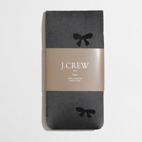 Factory bow tights : Socks & Tights | J.Crew Factory