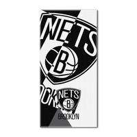 """Nets National Basketball League, """"""""Puzzle"""""""" 34""""""""x 72"""""""" Over-sized Beach Towel"""