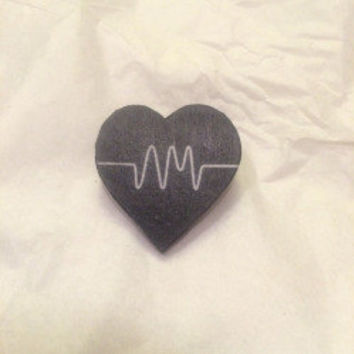 Arctic Monkeys Logo Heart Shaped Pin (2 different styles)