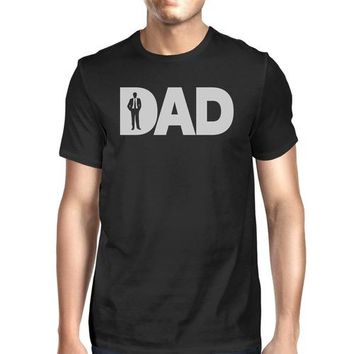 Dad Business Mens Black Graphic Tee Funny Fathers