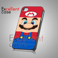 Super Mario Pattern - iPhone 4/4s/5 Case - Samsung Galaxy S2/S3/S4 Case - Black or White