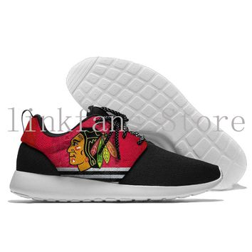 Men&Women Chicago Blackhawks baseball game sneakers 2017 Sport Amphibious Water Shoes Breathable Leather Shoes Outdoor