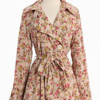 Park Avenue Floral Trench Coat By Ark  Co.