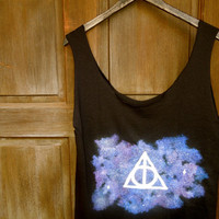 Galaxy Cosmo Harry Potter Deathly Hallows Tank T-shirt
