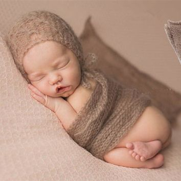 40*60cm Newborn Photography Props Infant Costume Outfit Soft Photo Wrap Matching Baby Photo Props Fotografia