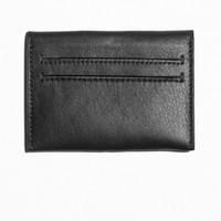 & Other Stories | Tuck In Leather Card Holder | Black