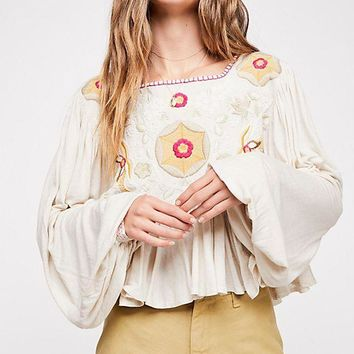 Women's Free People Claudine Peasant Top