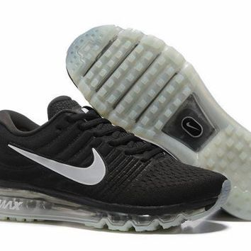 Nike Air Max 2017. Black & White. Men's Running Athletic Sport Shoes Sneakers