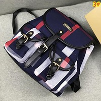 Burberry Fashion New Colorful Plaid Leisure Backpack Bag Women