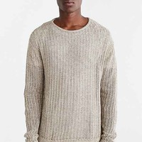 Your Neighbors Open Knit Crew Neck Sweater-