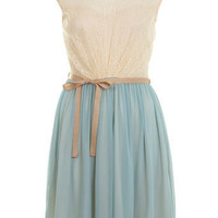 Duck Egg Lace Skater Dress - Apparel  - New In
