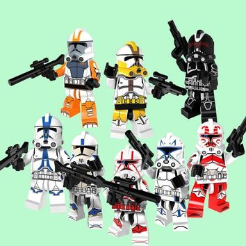 Star Wars Force Episode 1 2 3 4 5 CZHY 8pcs  Clone Trooper Figure Stormtrooper Building Block Best Collection Model Bricks Gift Toys For Children PG8078 AT_72_6