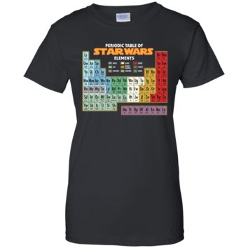 Star Wars Periodic Table of Elements Graphic T-Shirt G200L Gildan Ladies' 100% Cotton T-Shirt