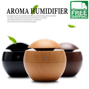 Ultrasonic 130ML Aromatherapy Essential Oil Diffuser With LED Light