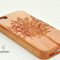 Real wood phone case,wooden iPhone 5C Case, Wood iPhone 5C Case,iPhone 5C case, For iPhone 5/5s/5c/4s Case,Engraving Tree case,Gift