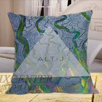 ALT-J Triangle on Square Pillow Cover
