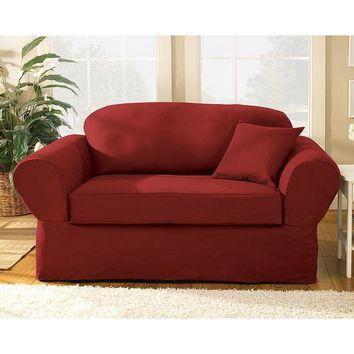 Sure Fit Twill Supreme Sofa Slipcover
