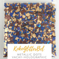 Metallic Glitter Mix Dots- Vacay
