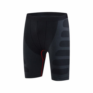 Newest Baselayer Compression Shorts Men Seamless Spandex Short Quick Dry Gym Training Running Basketball Sports Short Gym Wear
