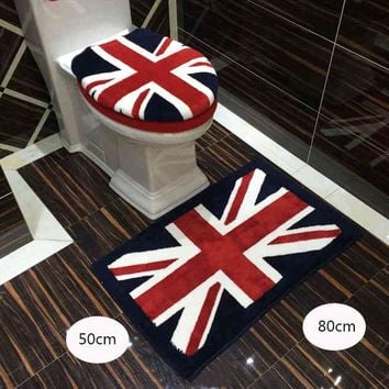 Fashion Bathroom Set Toilet Set Cover Bath-Mat 3pcs Set Toilet Seat Cushion