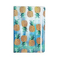 "Nikki Strange ""Pineapple Beach"" Blue Brown Everything Notebook"