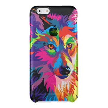 Colorful Wolf Uncommon Clearly™ Deflector iPhone 6 Case