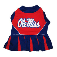 Mirage Pet Sports Fan Team Logo Design Mississippi Ole Miss Pet Dog Cheer Leading Medium