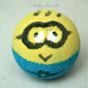 MINION Bath Bomb - Moisturizing Bath Fizzy - 2.5 oz. - Handmade - Fun Relaxation