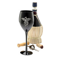 Park Avenue Collection Wyvern Dragon Gothic Glass Goblet
