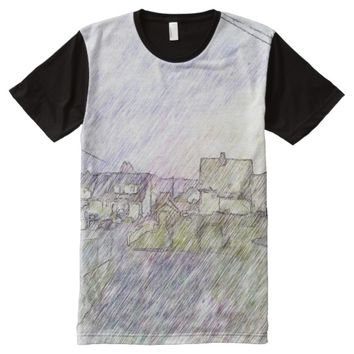 House and building drawing All-Over-Print T-Shirt