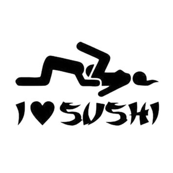High Quality I Love Sushi Car Sticker Windshield Truck Door Decal Vinyl Funny Stance Daily Driven