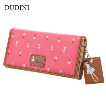 Hot Sale New Fashion Cute Women Wallet PU Leather 6 Colors Printing Hasp Long Wallets Ladies Clutch Change Purse Card Holder