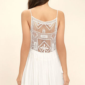 Idyllic White Lace Dress